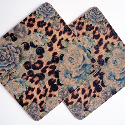 Two Blue Rose & Skin Square Placemats