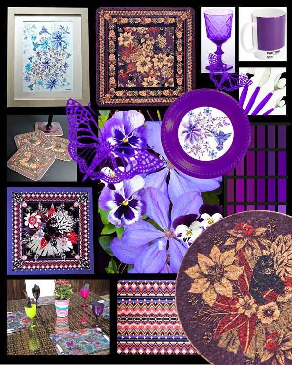 Purple Moodboard