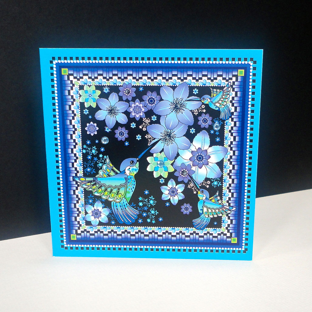 Hummingbird Single Card