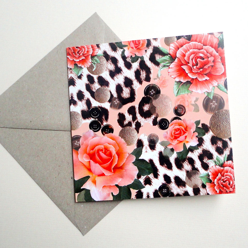 Orange Skin Single Card - With Envelope