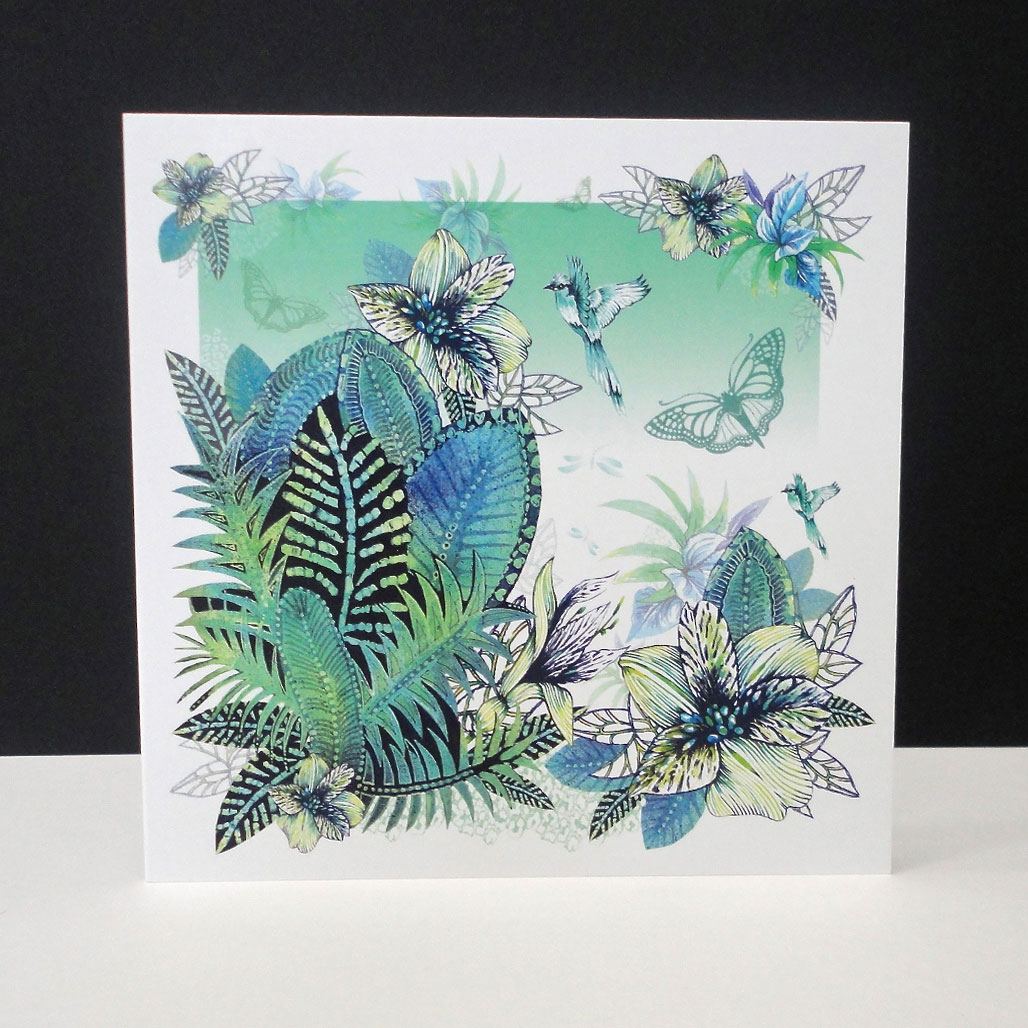 Tropical Forest Scene Single Card