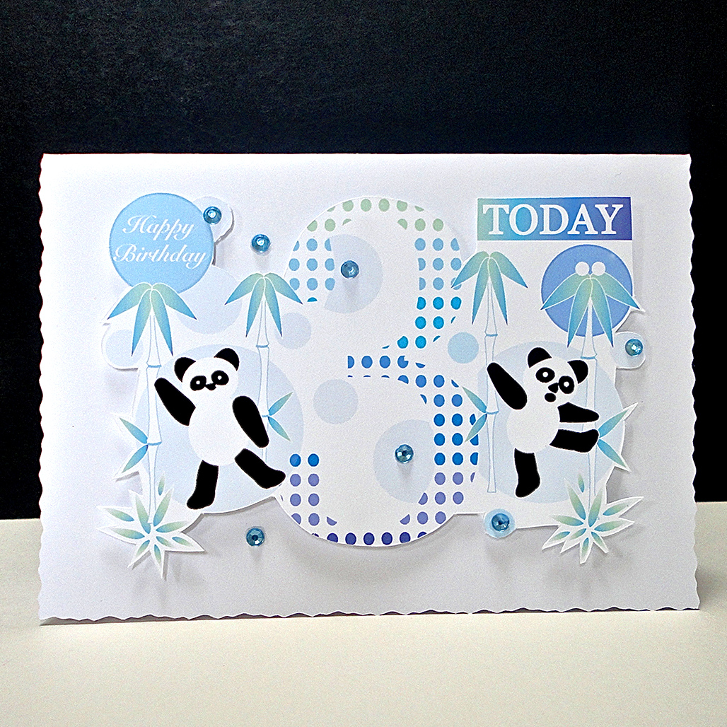Playful Panda Birthday Card