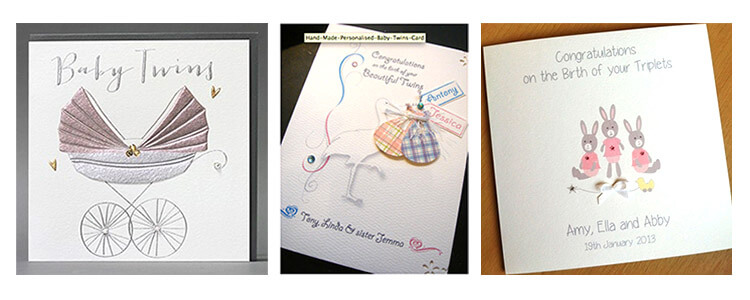 New Handmade Baby Cards Twins & Triplets