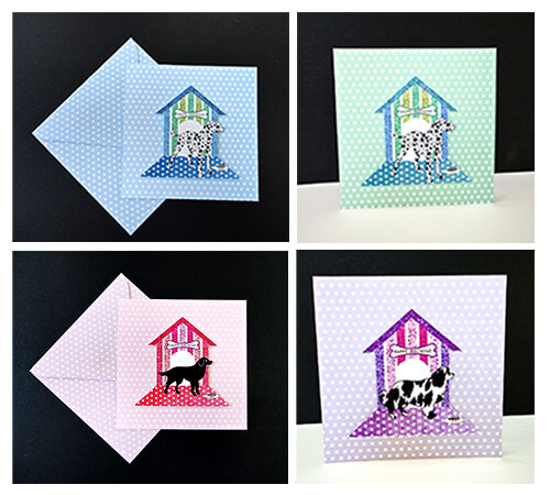Polka Dot Dog Handmade Cards