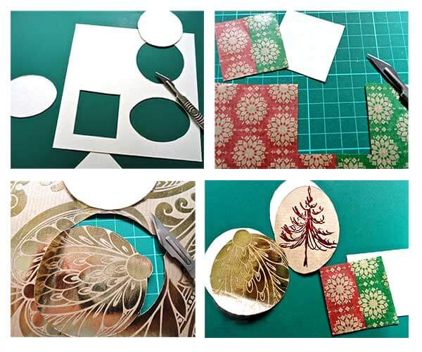 Christmas Bunting & Bauble card 3