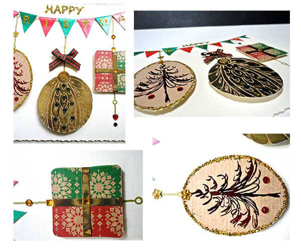 Christmas Bunting & Bauble card 5