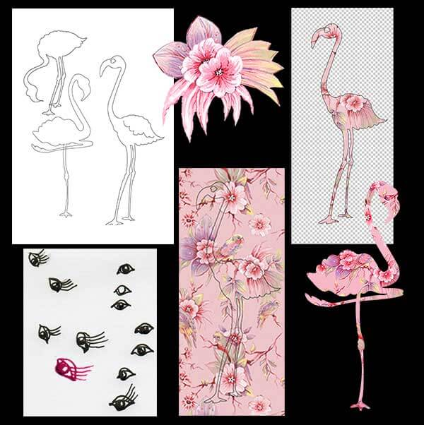 Pink Fantasy Flamingo Card 2