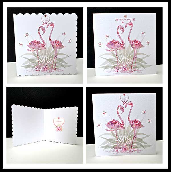 Pink Fantasy Flamingo Card 6