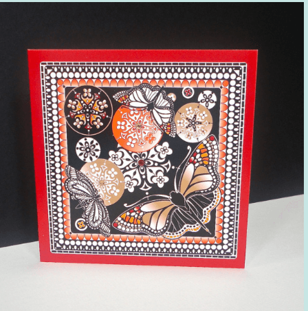 Decorque Red Butterfly Card