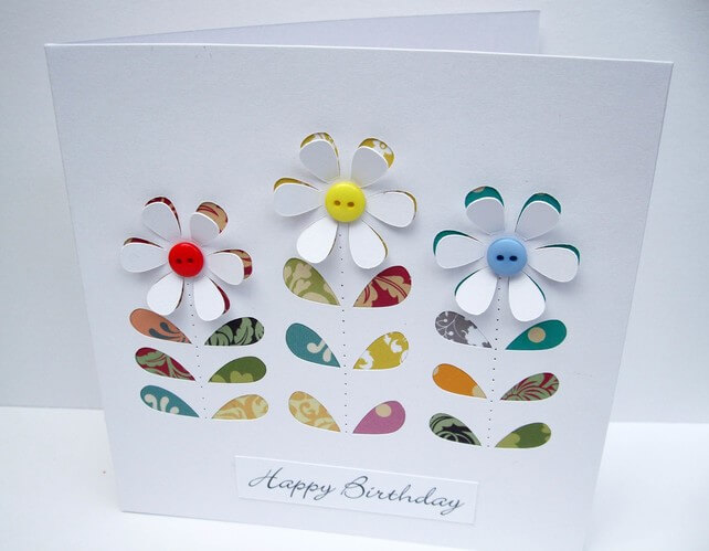 Folksy Flower Card