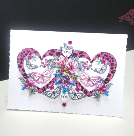 Heart and Butterfly Decorque Card
