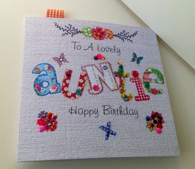 Stephanie Short Staionery Aunt Card
