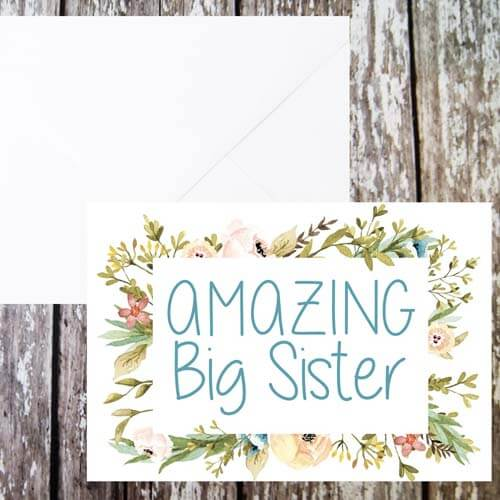 Yes A Card For Your Amazing Big Sister