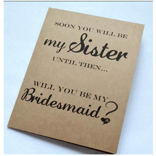 How Will You Ask Your Sister In Law To Be Bridesmaid Weve Found The Answer And Its Genius Thanks Etsy Invites By This That Shop We