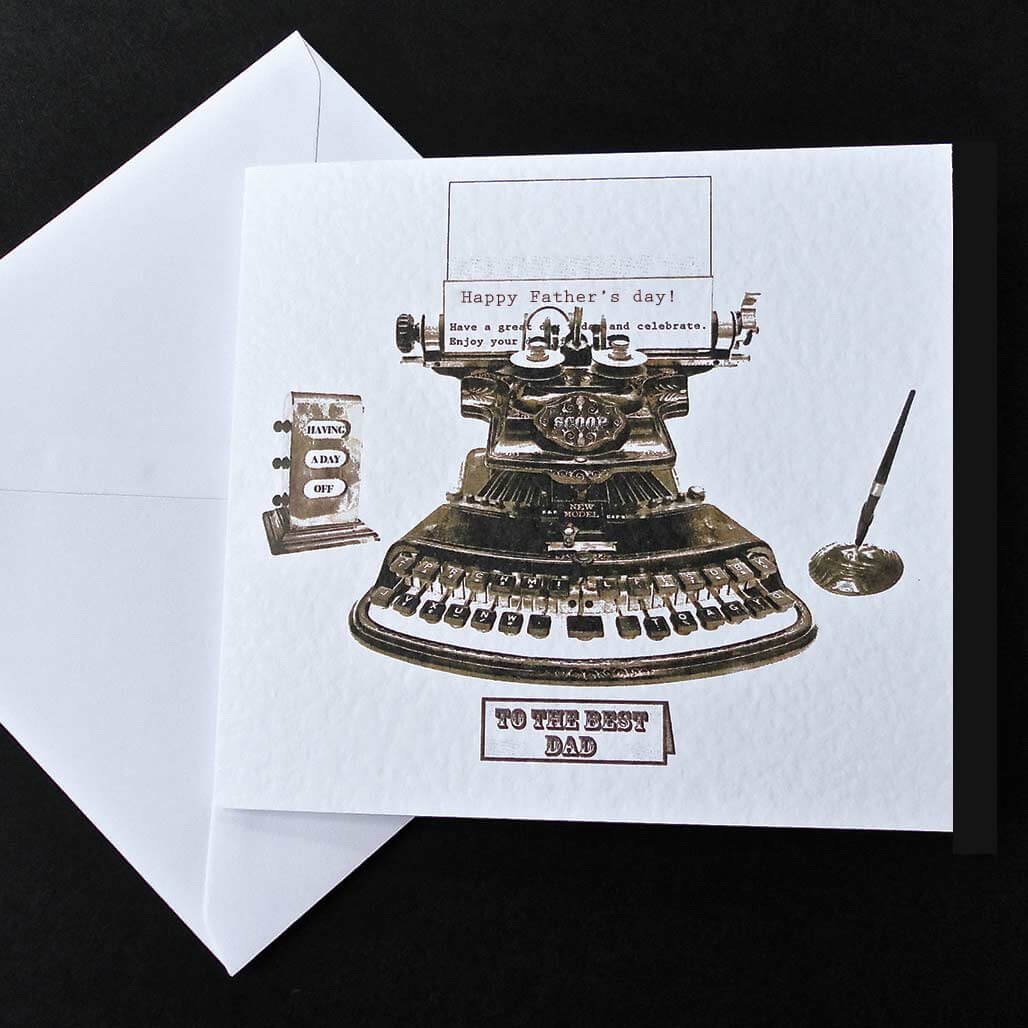 Antique Typewriter Father's Day Card