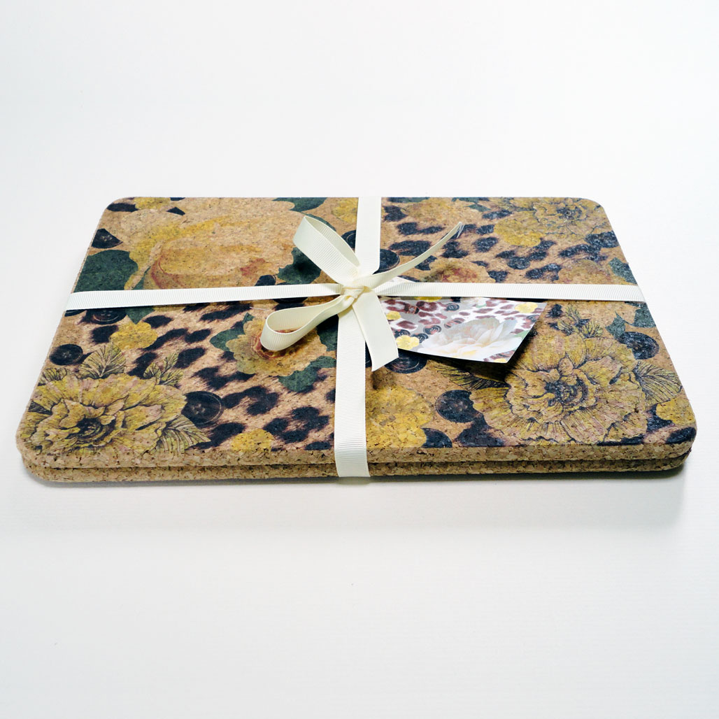 Two Yellow Rose & Skin Cork Placemats