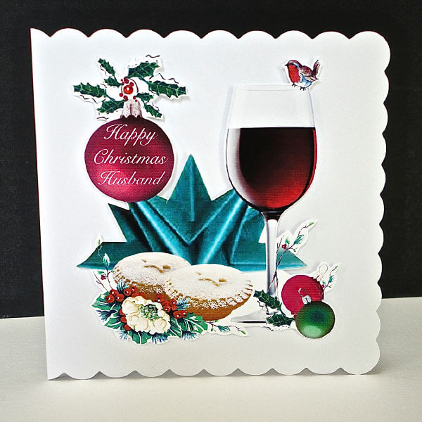 Christmas Cheers Handmade Card - Husband