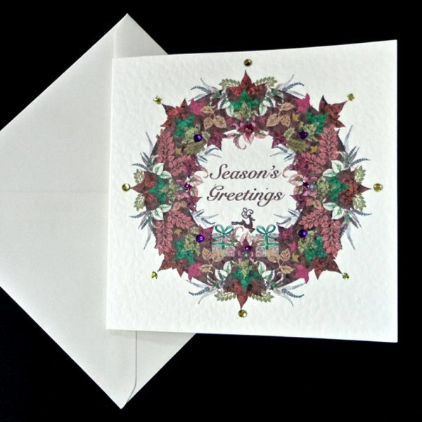 Seasons Greetings Garland Card