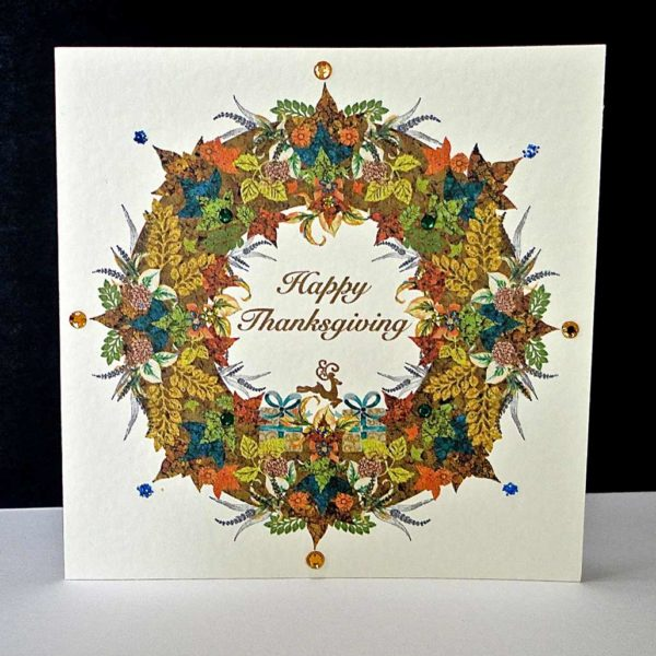 Happy Thanksgiving Garland Card