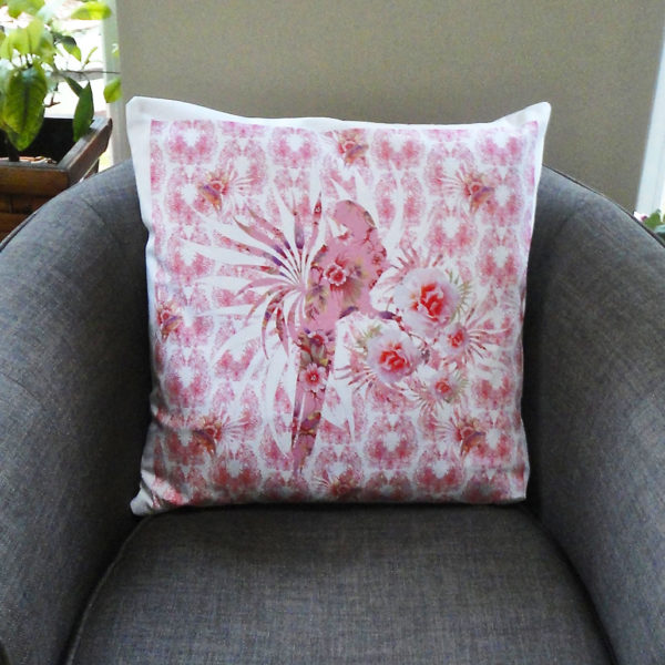 Pink Paradise Duo Print Cushion