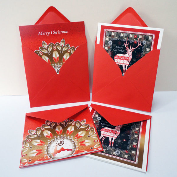 Christmas Reindeer Display - Festive Greeting Cards