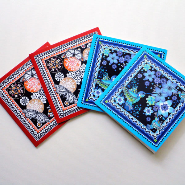 Decorque Display - Pack of Four Greeting Cards