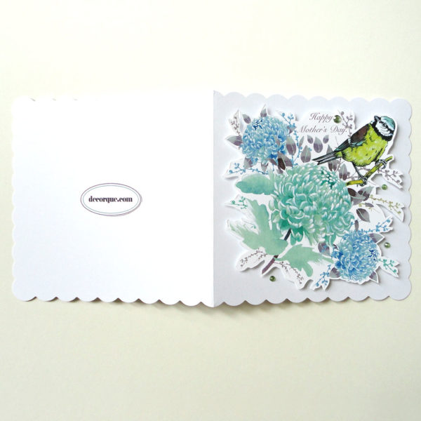 Chrysanthemum and Bird Mother's Day Card