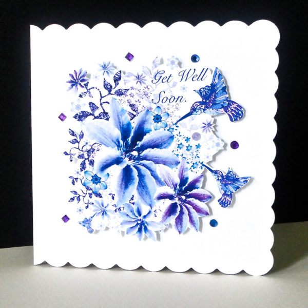 Floral Flight Get Well Soon Card