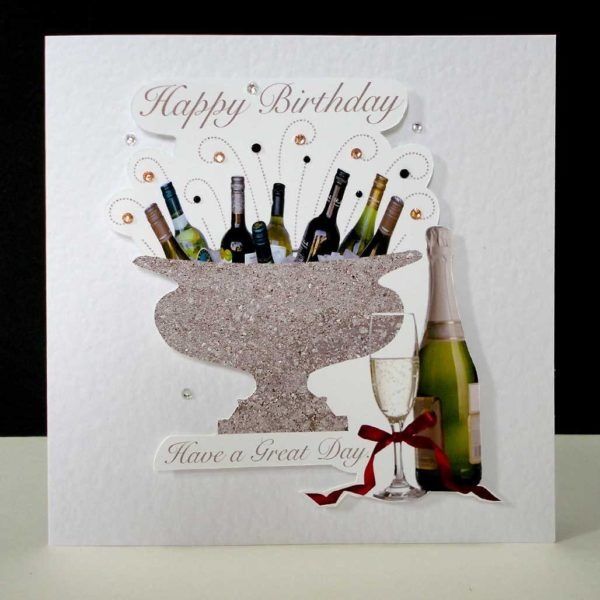 Celebration Bottles Happy Birthday Card.