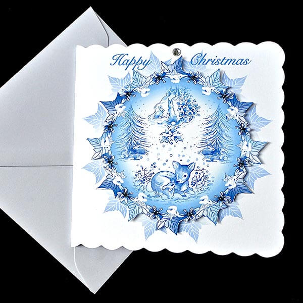 Magical White Christmas Handmade Card