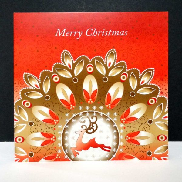 Reindeer Sparkle Christmas Card