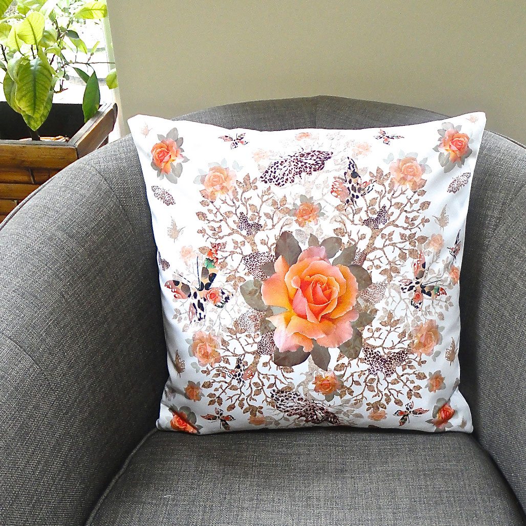Cork Butterfly Bush Cushion